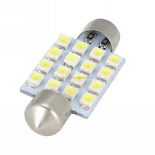 16-SMD 3528 1210 LED Green Festoon Dome Light 6411 Internal with Car Cleaning Cloth
