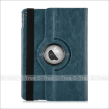 360 Degree Rotation flip leather full sleep wake function wallet case cover for ipad 4 5 6