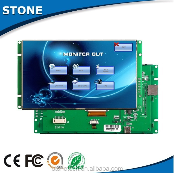 10.1 inch industrial intelligent bus car TFT LCD with RS232/RS485 interface for medical and beauty equipment