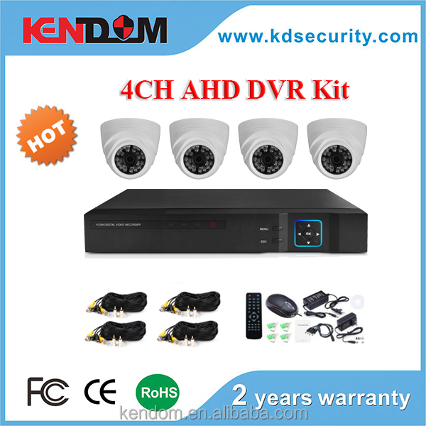 Hot Case 4 Channel AHD DVR Kit, 720P 1MP Complete CCTV Set, High Cost-effective CCTV Camera System KENDOM Brand