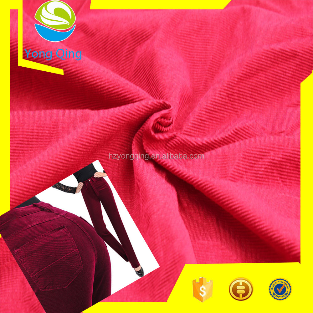 500kg MOQ warp knitting winter clothes fabric, different kinds of corduroy