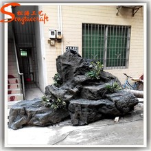 China wholesale landscaping rock fake fiberglass fake slate rock prices