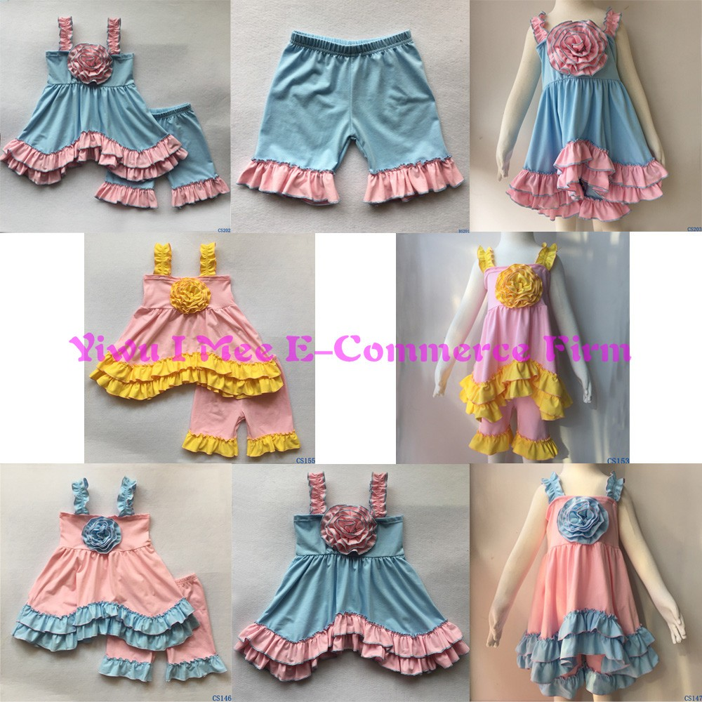 2016 New Arrival Girls Summer Boutique Outfits High Quality Childrens Boutique Clothing Sets Wholesale