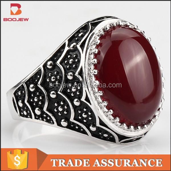 Classic rhinestone zirconia stainless steel ring, men ring, gothic rings, vintage rings