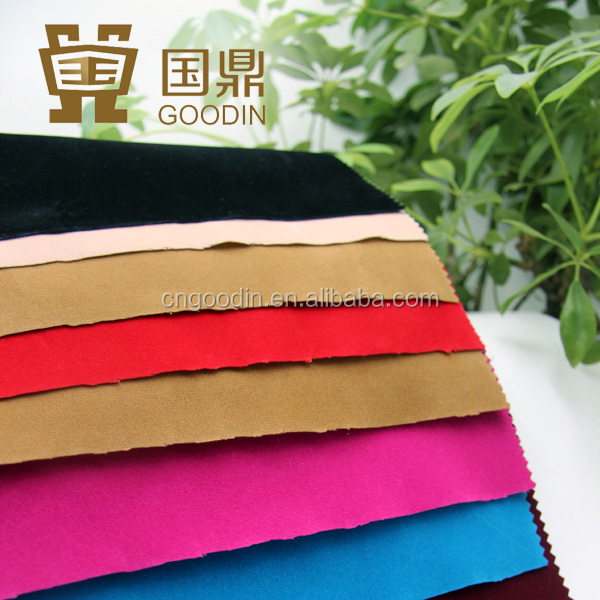 raw material textile fabric panne velvet flocking fabric for shoes