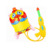 Plastic customized puppy backpack water gun with tank