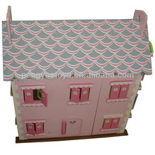 PY2022 Multi-Storey Wooden Doll House, Color & Designs Can Vary