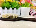 New wooden hair brush plastic pin K152