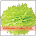 Lime green Tissue Paper Pom Pom Flowers Ball for Festival Wedding Birthday Party