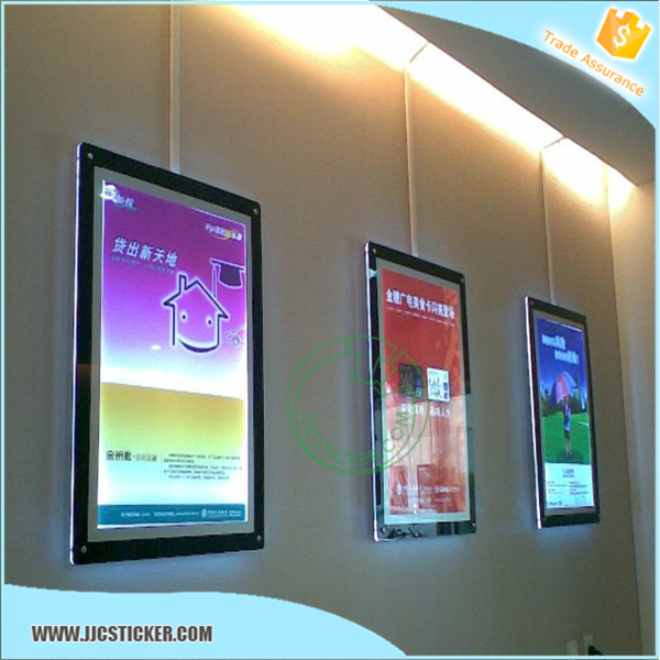 Hot sales picture frame led light box,Waterproof led picture frame crystal light box,Custom size led picture frame