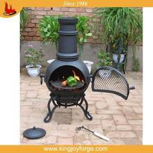 attractive and durable mini cast iron chiminea