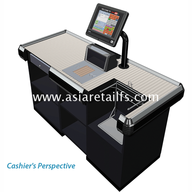High quality machine grade cash counter for shop furniture wholesale alibaba