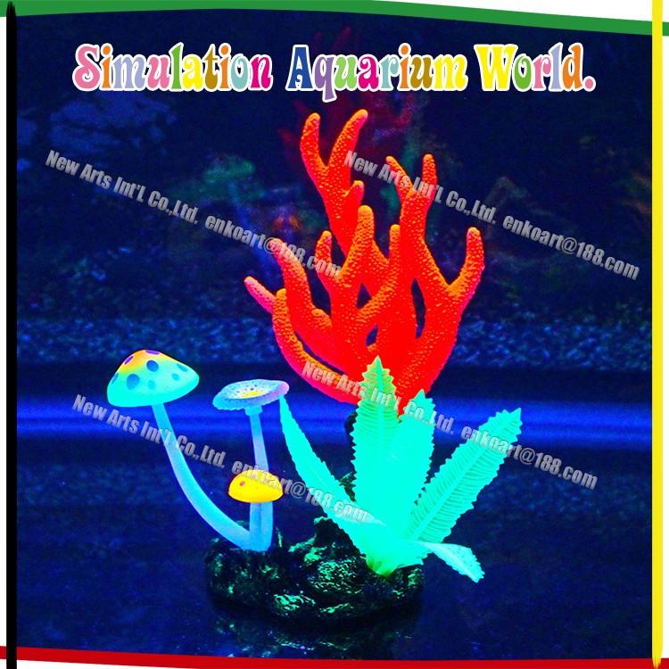 Aquarium artificial silicone soft coral reef manufacture for Aquarium decoration sealant