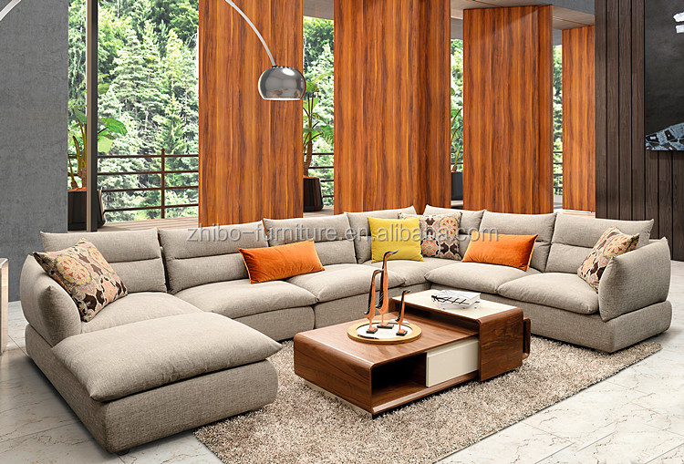 Home furniture fashion cheap sofa designs and prices for 7 seater living room