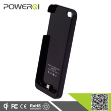 Powerqi i100 wireless charging case for iPhone5,5s,double function with wireless charging and protective