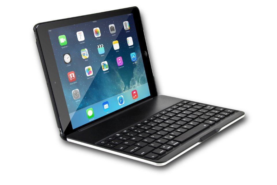 Wireless Ultra Slim Aluminum Bluetooth Keyboard Folio Case for iPad Air