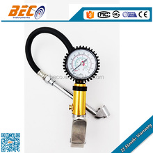 "BECO Tire Inflator Gauge Dual Chuck Nozzle Design Reaches Inner Wheel Stems (2"" Protected Gauge Reader)"