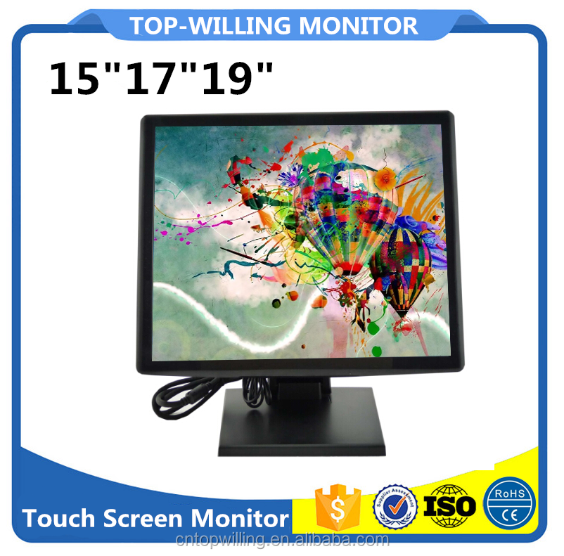 "Hot 15""17""19"" TFT LCD POS Touchscreen Monitor USB Touch Monitors"