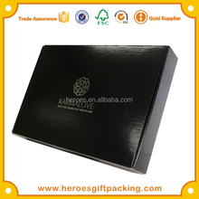Trade Assurance HG Garment Cloth Usage Silver Hot Stamping Foiling Black Color E-fluted Corrugated Mailing Shipping Carton Box