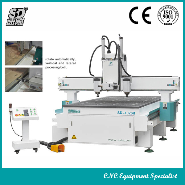 three-process woodworking SD-1326R cnc router high precision and efficiency