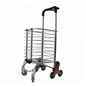 Wholesale High Quality Promotional Portable Folding Wire Shopping Cart with Wheels