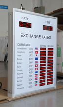 led Exchange Rate For Commercial Banks LED Bank Exchange Rate Display/100% Response Rate/Babbitt Diyatel, Model No.BTR-0502(N)