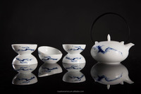2015 newest products China Well-Known Trademark Hand Painted Underglaze porcelain japanese tea set