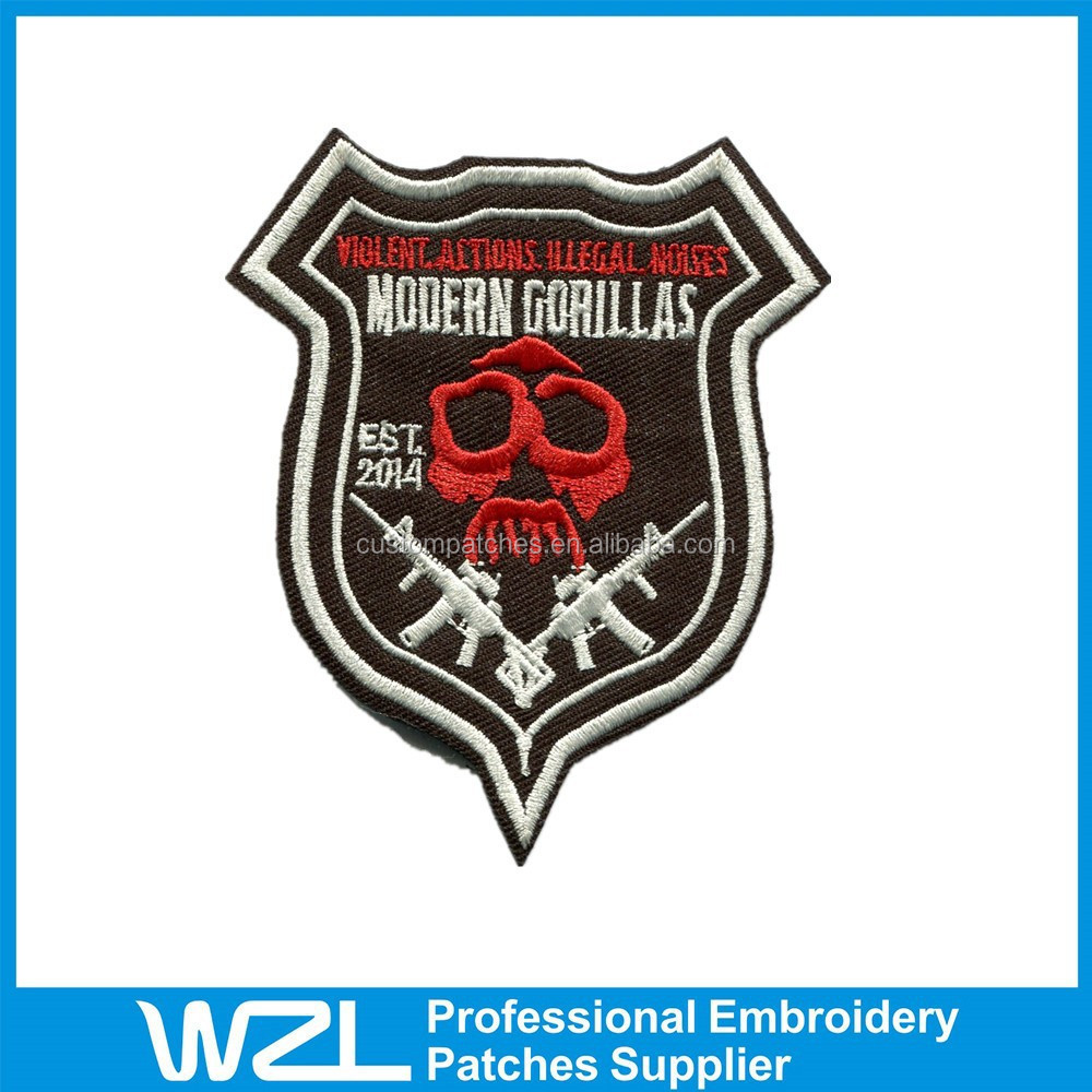 High quality embroidered patches used to clothing emblem
