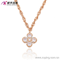 necklace-00017-new product Sale Xuping Fashion Jewellery Russian Flower Necklaces Rose Gold Color necklace