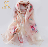 Valentines Day Gift Magic Color Floral Wool Blend Silk Fashion 2017 Scarf