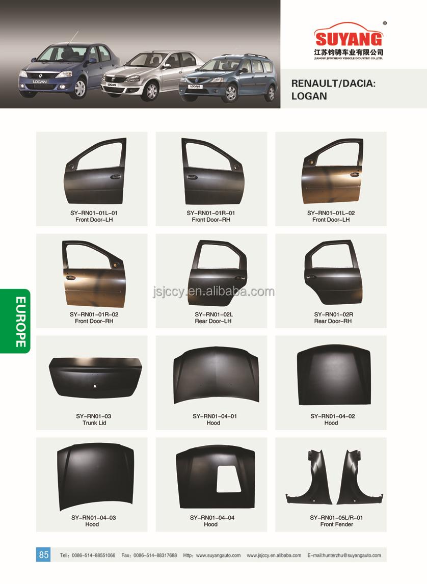 Renault Logan Car Radiator Support Model 2 Auto Metal Side Panel
