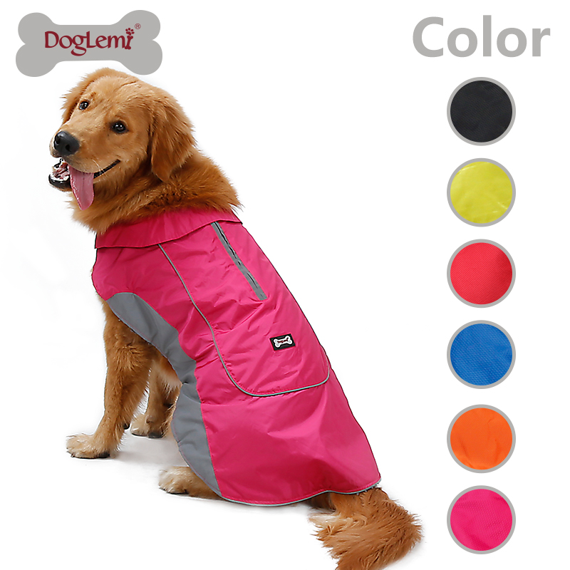 New Dog Jacket Pet Clothes Winter Warm Large Dog Coat with Harness Hole