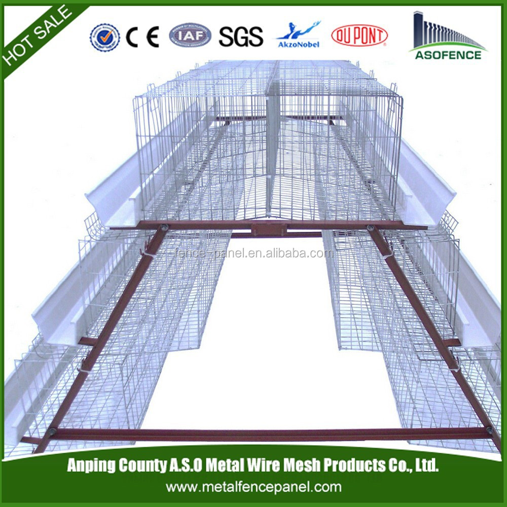 ISO 9001 layer egg chicken cage/poultry farm house design