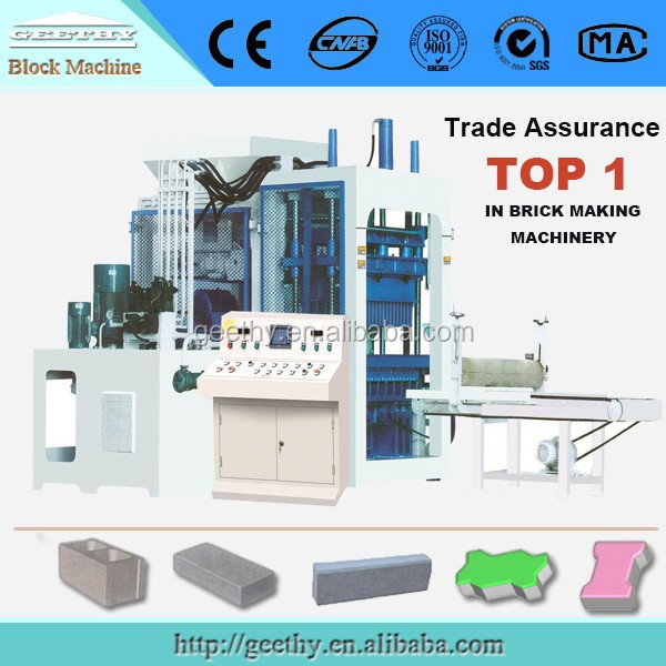 building construction material QT12-15 automatic production line of brick/road paver block machine price in india
