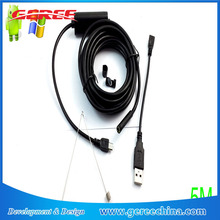 1m 3.5m 5m USB Android OTG Endoscope 7mm Mini Waterproof Borescope Tube Pipe Inspection Camera