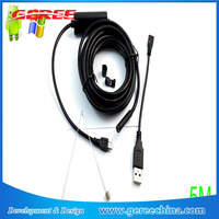 5m USB Android OTG Endoscope 7mm Mini Waterproof Borescope Inspection Tube Pipe snake Camera