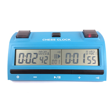 new products 2017 hot sale PS-398 blue color Professional digital chess clock with color box packing with 59 pcs of timing rule