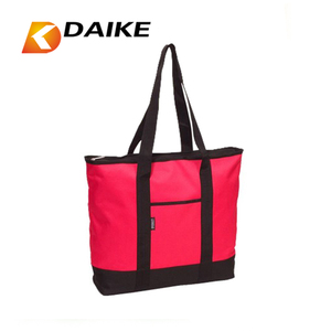 Custom Fashion style reusable shopping bag with zipper Factory OEM
