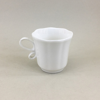 Customized promotional modern turkish white color porcelain coffee cups