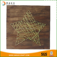 2016 cheap price wooden star craft for wall decoration