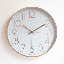 12 inches 30 cm Classic Promotion Products Cheap Plastic 3d round Wall Clock For Home Decoration