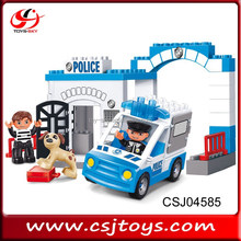 Kids Enlighten brick toys city police station building blocks 39pcs
