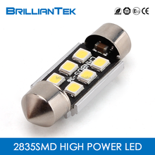 Brilliantek AUTO 6SMD 2835 LED Interior Bulb Lamp CANBUS Festoon 28MM,31MM,36MM,39MM,41MM