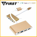 High quality usb 3.1 type c high speed charging 4 prot usb hub for New Macbook