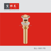 Baolilai Flip - flop board drainer with natural color brass sink drain