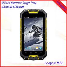3000mAh Battery Dual Core Smartphone Snopow M8C 4.5 Inch IP68 Waterproof Rugged Phone with GPS