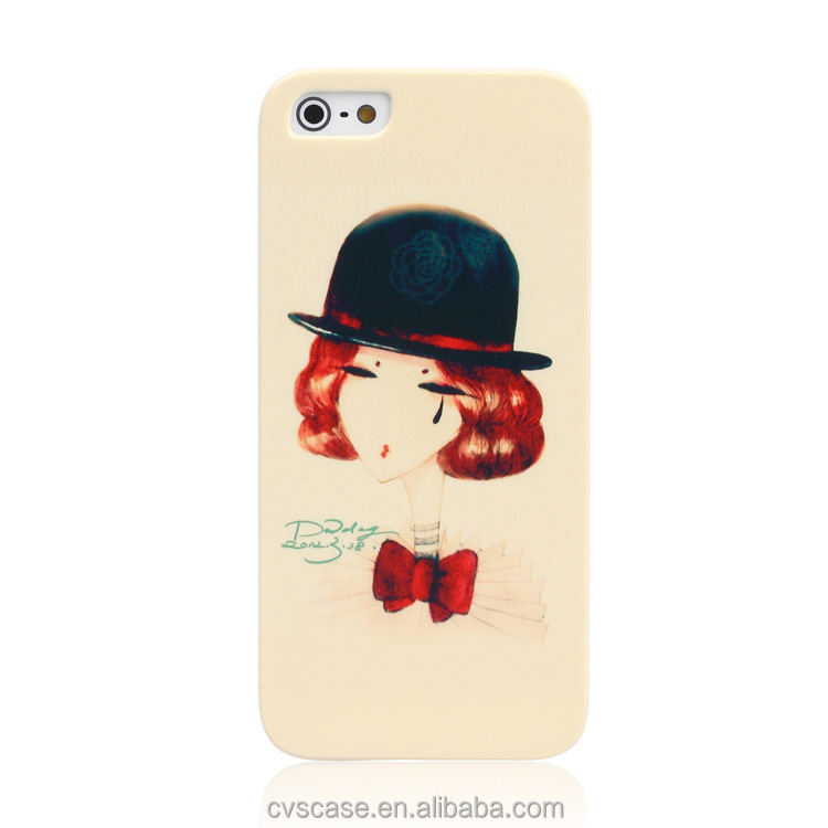 Unique Products to Sell Cartoon Carbon Fiber Phone Case Custom for iphone 5 Cover to Ladies