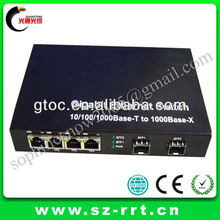 4 port 1000M Gigabit Optical Ethernet Fiber Switch