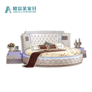 Hot Sale Bed Room Furniture Round Bedroom Set , Bedroom Set Furniture Foshan