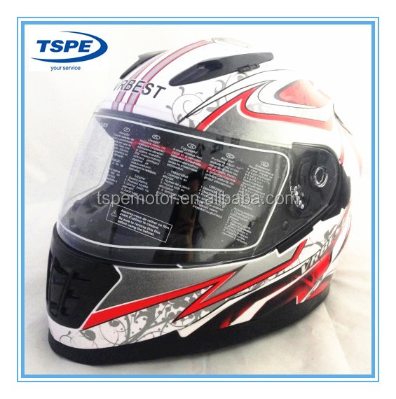 DOT single visor full face motorcycle helmet TS-VR-508